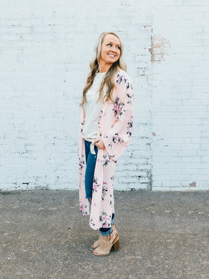 Pink Floral Duster