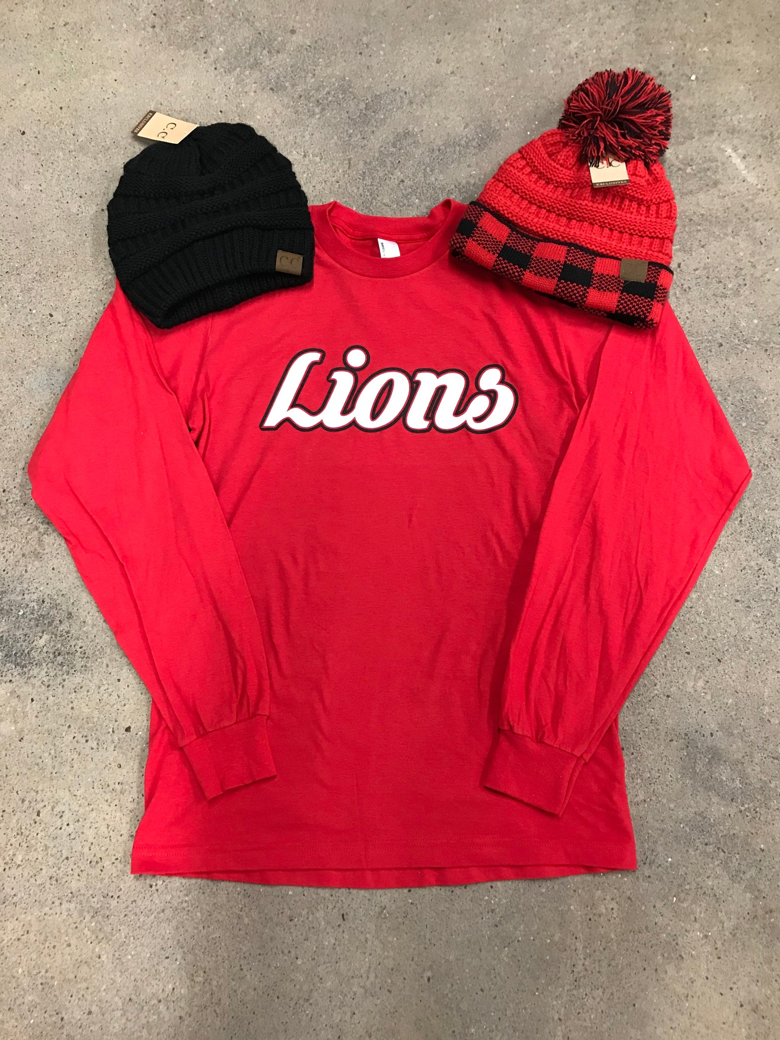 Lions Red Long Sleeve