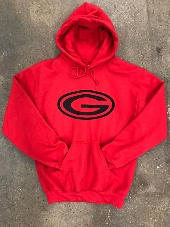 Red Hoodie with Black G