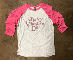 Bling V-Day Raglan