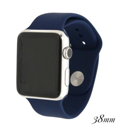 Blue Silicone Watch Band