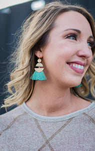 Long Tassel Dazzling Earrings