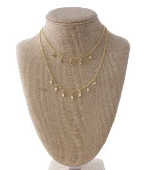 Gold Layered Metal Necklace