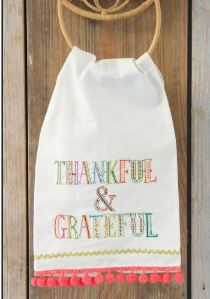 Thankful & Grateful Linen Hand Towel