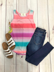 Multi Colored Casual Tank
