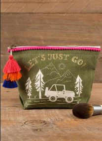 Let's Just Go Canvas Pouch