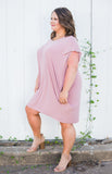 Dusty Pink Pocket Dress