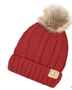 Kids Single Pom C.C. Beanie