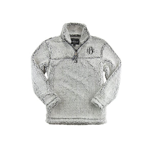 Youth Frosty Grey Sherpa Monogram