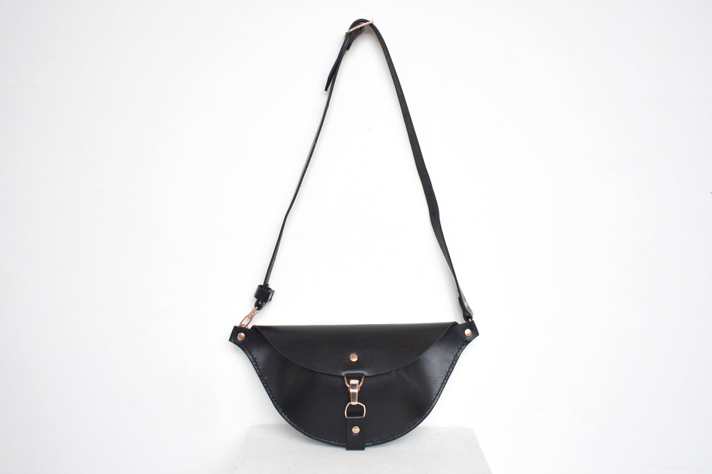Firenze Hip Bag | Black Leather