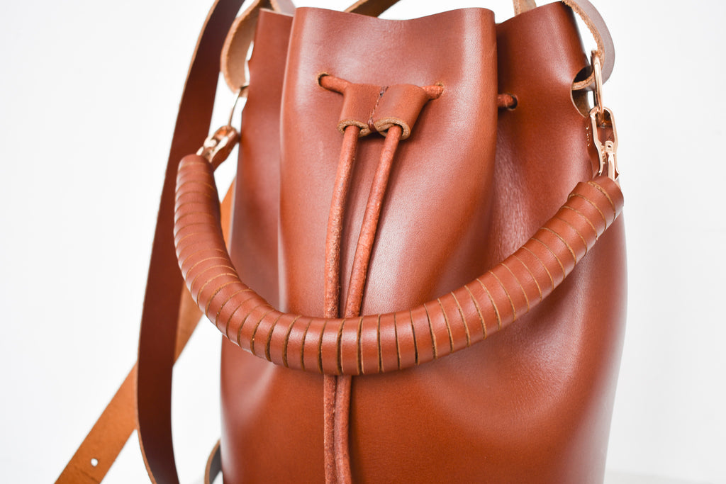 Leather Bucket Bag | Saddle