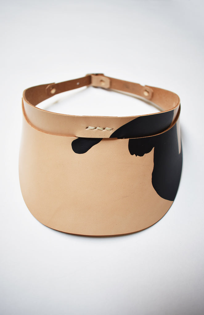 Painted Leather Visor- Limited Series with Philipp Zurmöhle