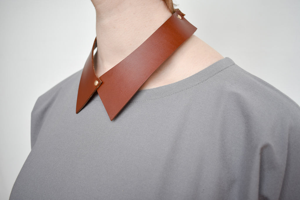Camicia Collar | Saddle Leather