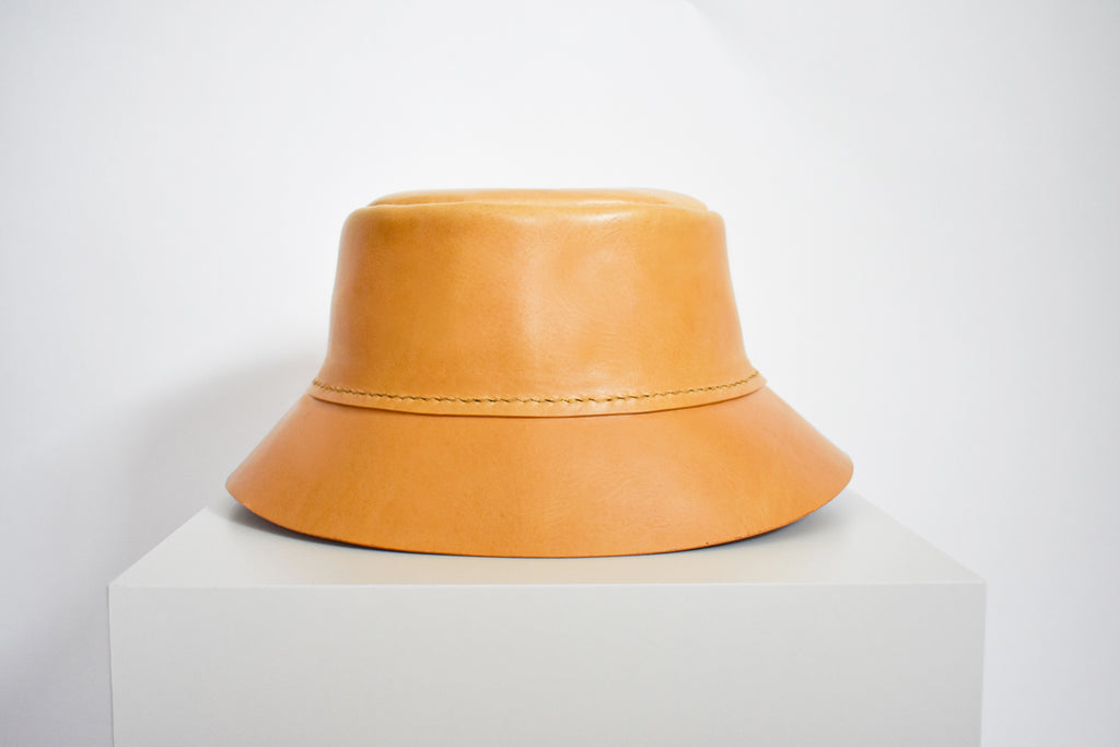 Leather Bucket Hat