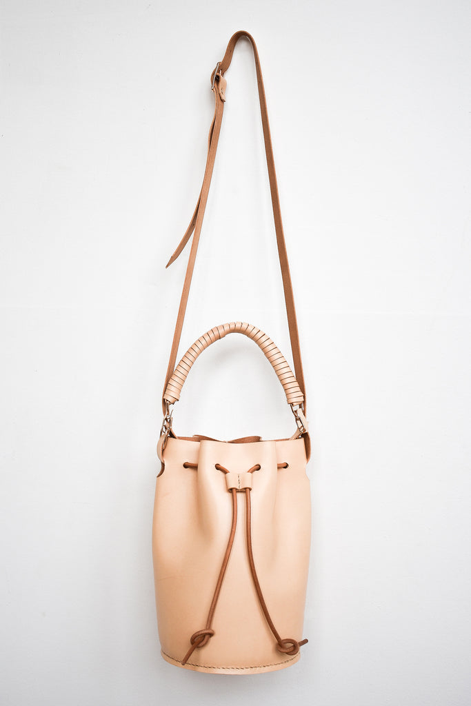 Leather Bucket Bag | Natural