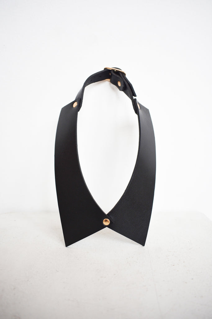 Camicia Collar | Black Leather