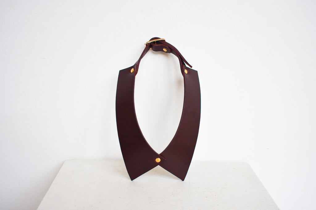 Camicia Collar | Burgundy Leather