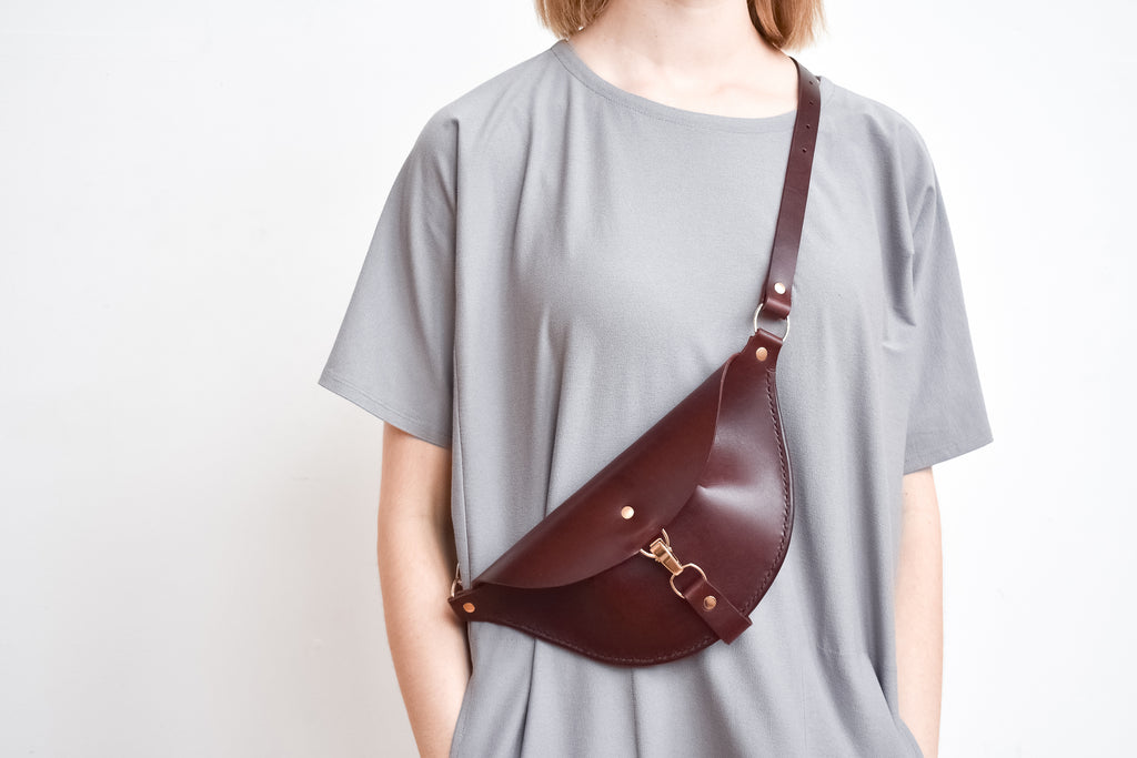 Firenze Hip Bag | Burgundy Leather
