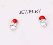 Fashion Christmas Zircon Earrings Best Gifts