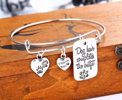 """DOG HAIR COMPLETES THE OUTFIT"" BANGLE"