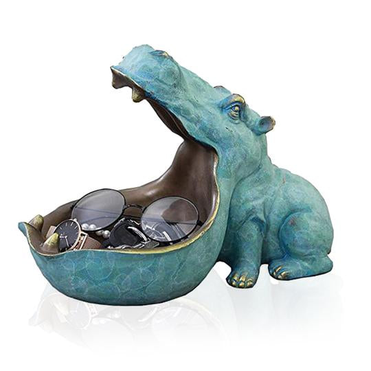 HIPPOPOTAMUS SCULPTURE CONTAINER