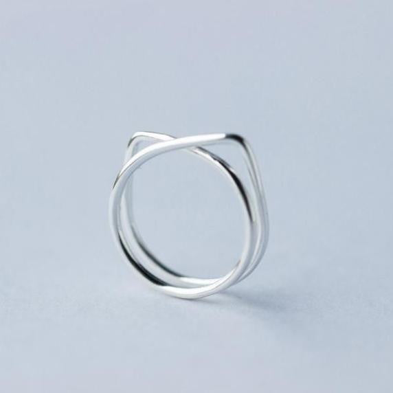 Two Layers Cute Cat Shape Ring