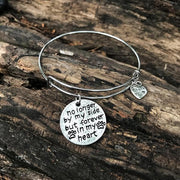 """NO LONGER BY MY SIDE BUT FOREVER IN MY HEART"" BANGLE"