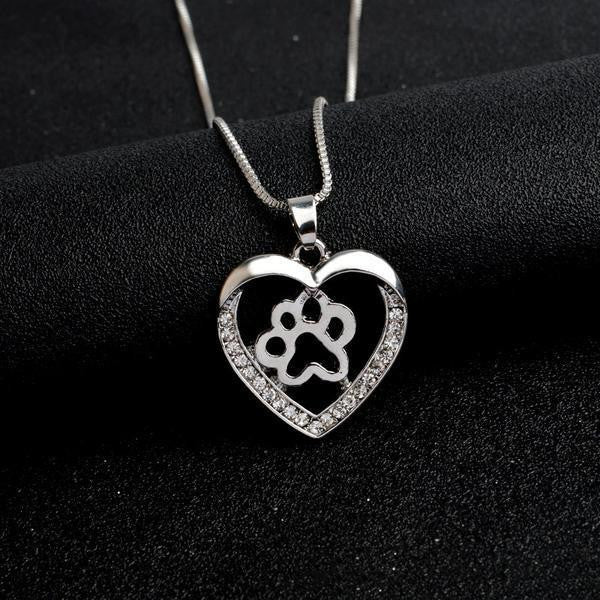 PREMIUM CRYSTAL PAW NECKLACE