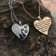 PAW AND FOOTPRINT HEART NECKLACE