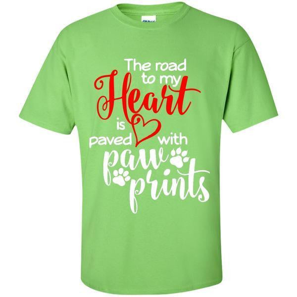 """PAVED WITH PAWS"" T-SHIRT"