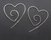 Heart Spiral Hoop Earrings