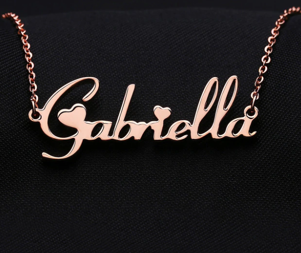 Charm Personalized Name Plate Pendants