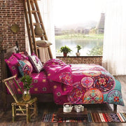 Pink Boho Dreams Duvet Cover 4 Pcs Set
