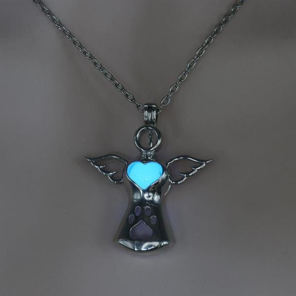 'MY DOG IS AN ANGEL' GLOW-IN-THE-DARK PENDANT