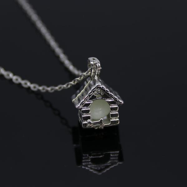 'I LIVE IN A DOG HOUSE' GLOW-IN-THE-DARK PENDANT