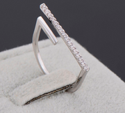 Cubic Zircon T Bar Ring