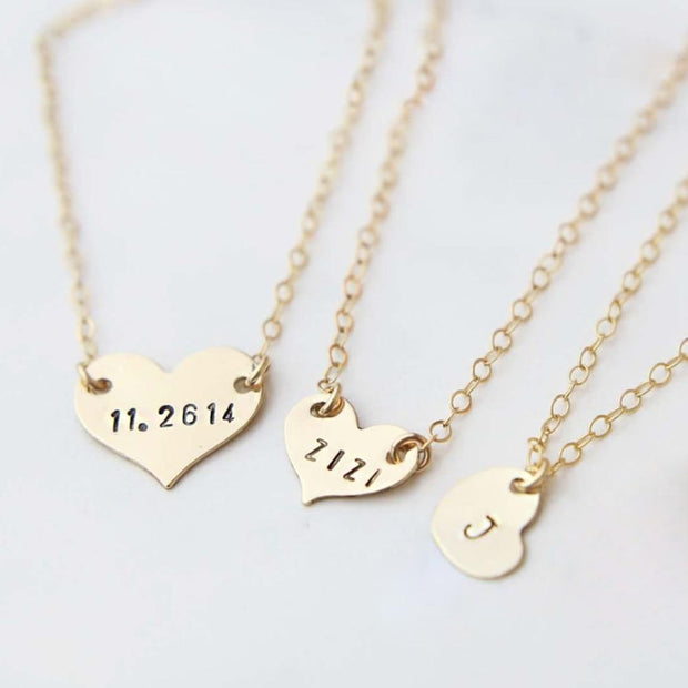 Initial Heart shape Necklace