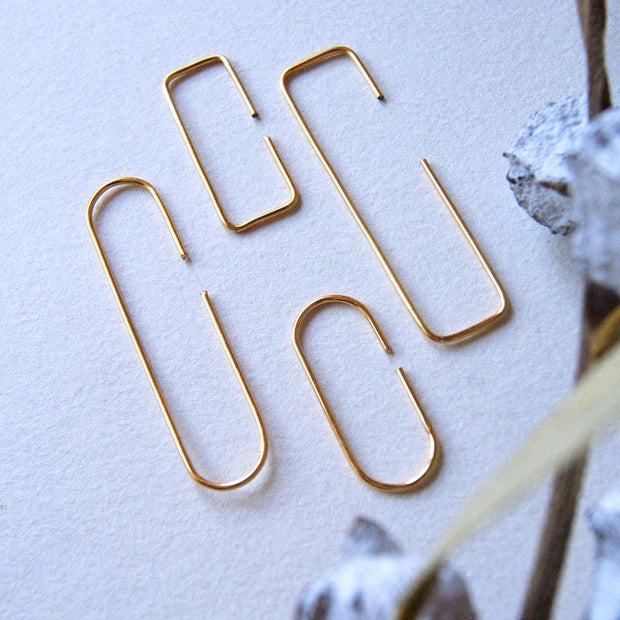 Silver Minimalist Earrings