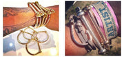 Men Vintage D Shape Screw Cuff Bangles Bracelets