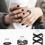 Hollow Cross Midi Finger Rings