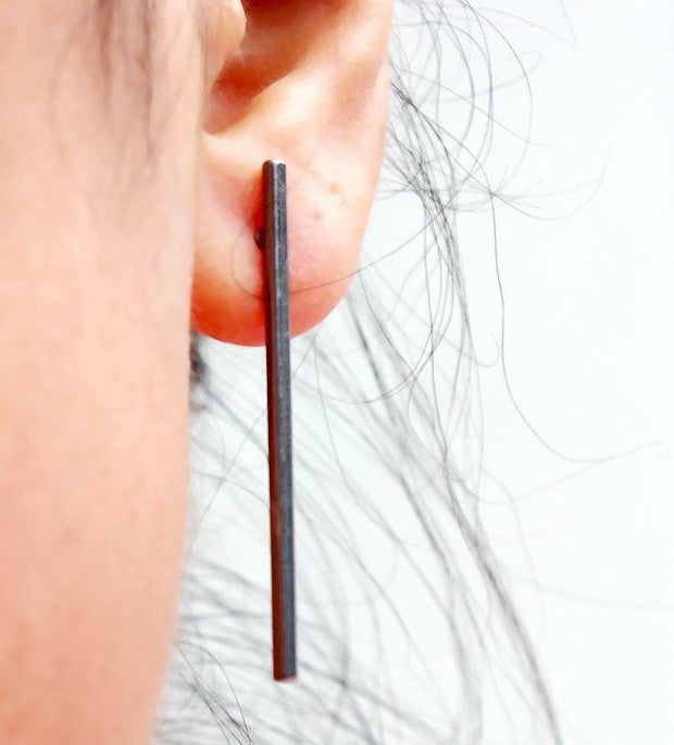 copper casting stud earring