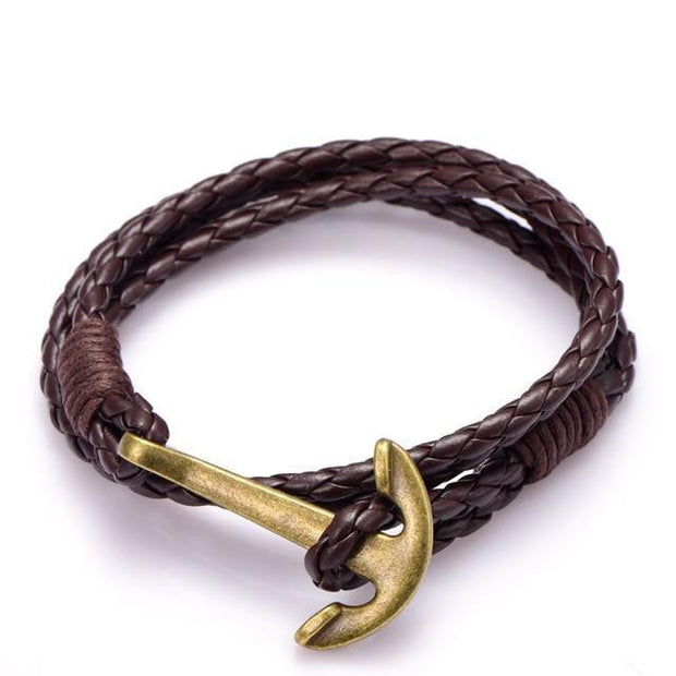 Men Bracelet Black PU Leather Jewelry