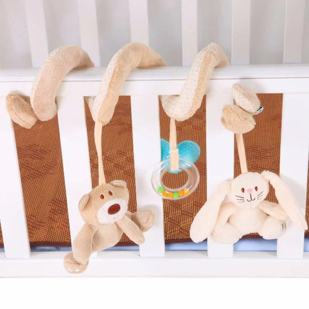 Funny Animal Activity Spiral Bed & Toy