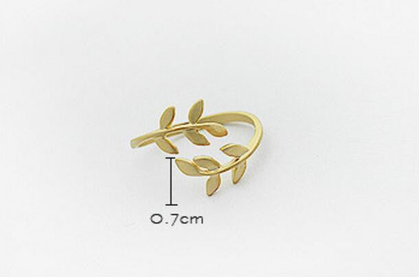 Branch Leaf Leaves Beautiful Ring