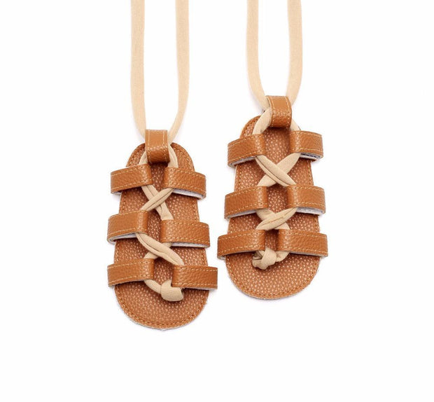 Baby Girls Flat Lace-up Sandals