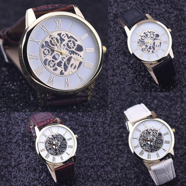 Luxury Casual Steel Business Imitate Mechanical Watch