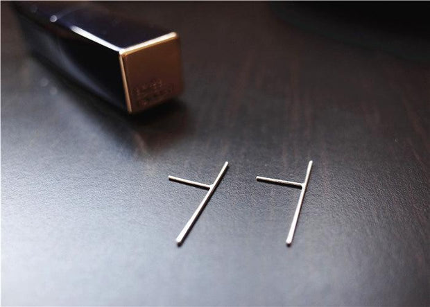 925 Sterling-silver Long Sticks Earrings
