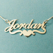 Heart With Name Necklace