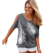 Cold Shoulder Women Casual Tee