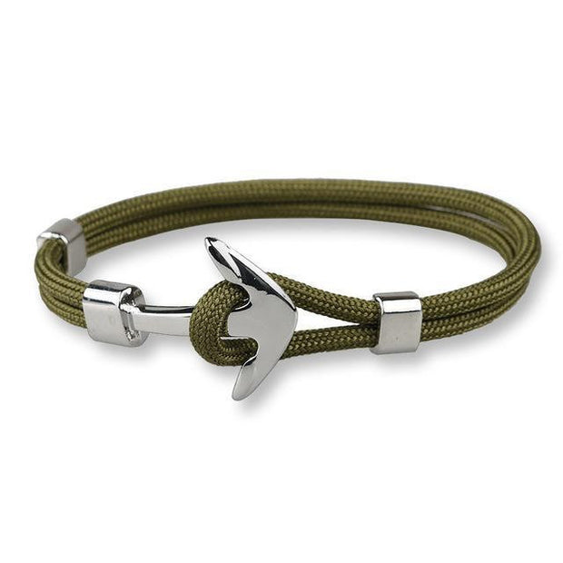Silver Anchor Bracelet For Women Men